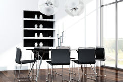 Modern dining room interior Royalty Free Stock Images