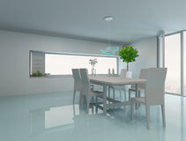 Modern dining room interior with table and chairs Royalty Free Stock Images