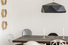 Modern dining room made a piece of art Stock Photography