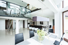 Modern dining room in property Royalty Free Stock Photos