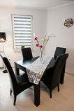 Modern Black and White Dining Room Royalty Free Stock Images