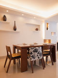 Modern dining room. With dining table and chairs Stock Photos