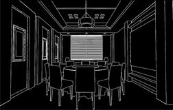 Modern Dining Room Vector 01 Royalty Free Stock Photography