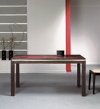 Modern dining room with wooden table Royalty Free Stock Photography
