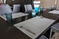 Modern dining table Royalty Free Stock Images