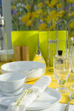 Modern dining table setting Stock Photography