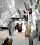 Modern dining table setting Royalty Free Stock Photography