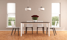 Modern Dininig room Stock Images