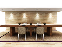 A modern dinning area Royalty Free Stock Image
