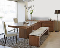 Modern dinning room Royalty Free Stock Photos