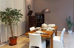Modern dinning room Stock Images