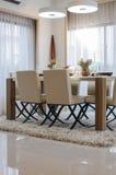 Modern dinning room Stock Photo
