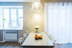 Modern dinning room interior Royalty Free Stock Photos