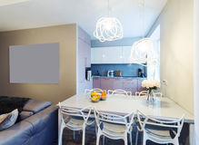 Modern dinning room interior Stock Photography