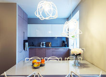 Modern dinning room interior Stock Photo