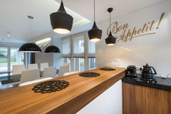 Modern dinning room interior design Royalty Free Stock Photos
