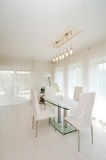 Modern dinning room Royalty Free Stock Images