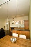 Modern dinning room stock photography