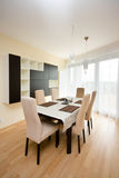 Modern dinning room Royalty Free Stock Photography