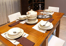 Modern dinning table Stock Photography
