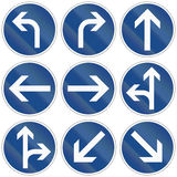 Modern Direction Signs In Germany Stock Photos