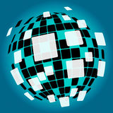 Modern Disco Ball Background Means Nightlife Or Royalty Free Stock Photos