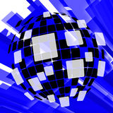 Modern Disco Ball Background Means Vintage Royalty Free Stock Photo