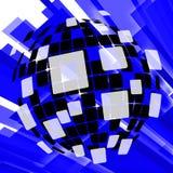 Modern Disco Ball Background Means Vintage stock illustration