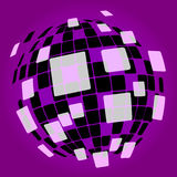 Modern Disco Ball Background Shows Nightclub Royalty Free Stock Photography