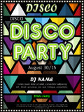Modern disco party poster design Royalty Free Stock Photography