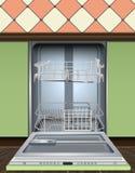 Modern dishwasher machine icon, realistic style vector illustration