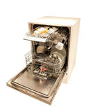 Modern dishwasher open Stock Images