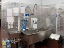 Modern dishwashing room Stock Photo