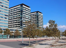 Modern district in Barcelona Royalty Free Stock Photography
