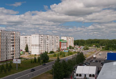 Modern district. Tobolsk. Rissia Royalty Free Stock Image