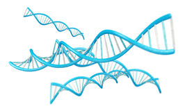 Modern DNA structure 3D rendering Stock Image