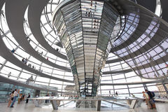 Modern dome of Reichstag in Berlin Royalty Free Stock Photos
