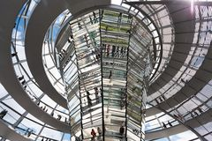 Modern dome on Reichstag. Reichstag Dome, Berlin modern architecture of the government building royalty free stock photo