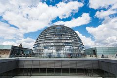 Modern dome on Reichstag Stock Images
