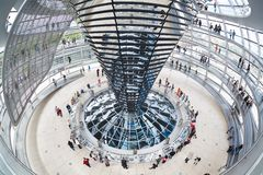 Modern dome on Reichstag Stock Photography
