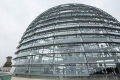 Modern dome on the roof of the Reichstag. Royalty Free Stock Image