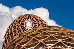 Modern Domes in Iron and Wood Royalty Free Stock Photography
