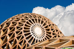 Modern Domes in Iron and Wood Royalty Free Stock Photos