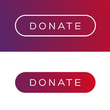 Modern Donate button flat Royalty Free Stock Photography