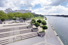 Modern Donau City Vienna at the Danube river Royalty Free Stock Photos