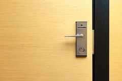 Modern door lock with doorknob Royalty Free Stock Photos