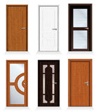 Modern Doors. Classic interior and front wooden doors - detailed realistic vector collection for your design Royalty Free Stock Photography