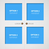 Modern doors and windows and infographic text box layout Royalty Free Stock Photos