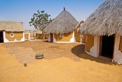 Modern dorp in India Stock Afbeelding