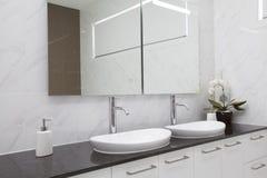 Modern double bathroom Stock Photography